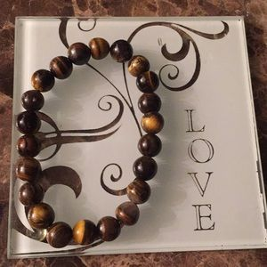 Tiger eye bead stone bracelet